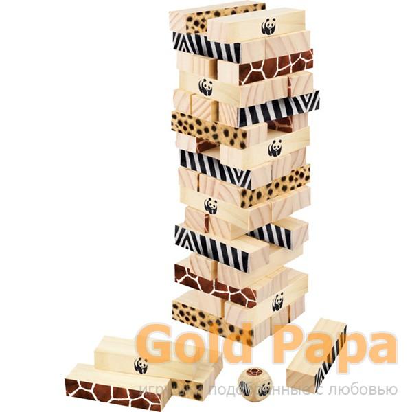 """WWF Настольная игра  """"Падающая башня Миомбо"""""""